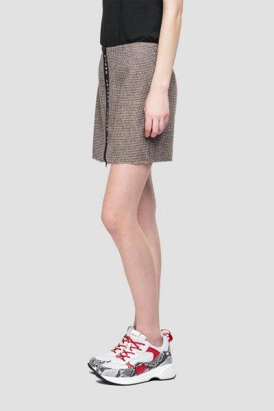 Minifalda REPLAY A Cuadros Y Cremallera W9328A 52156