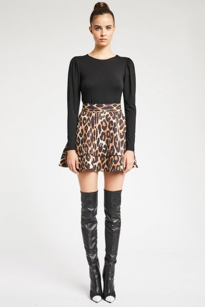 Vestido DENNY ROSE Combinado Animal Print 921DD10017