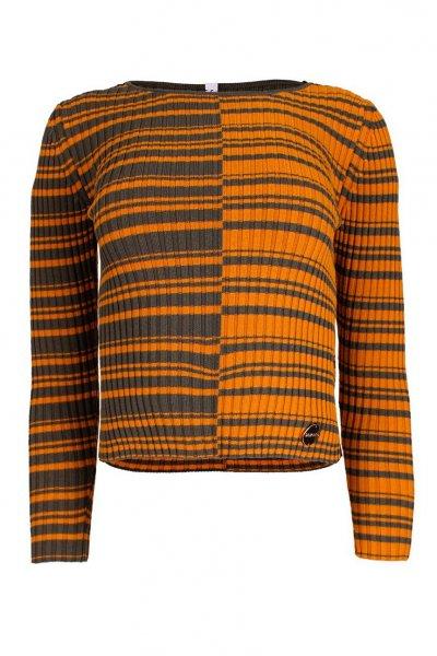 Suéter SAHOCO Rayas Naranja y Verde SH1903768L
