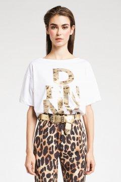 Camiseta DENNY ROSE Oversize Logo Animal 921DD60026