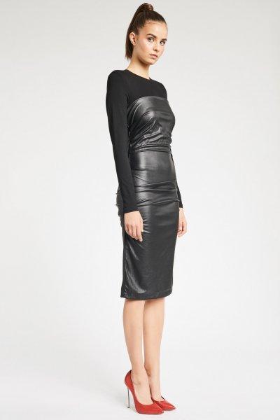 Vestido DENNY ROSE Combinado Ecopiel 921DD10005