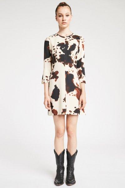 Vestido DENNY ROSE Estampado Manchas 921DD10007
