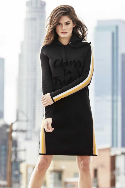 Vestido MONARI De Punto Con Capucha 8037888