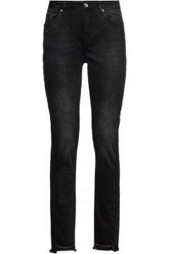 Pantalones MONARI Negros Desflecados Con Strass 804017