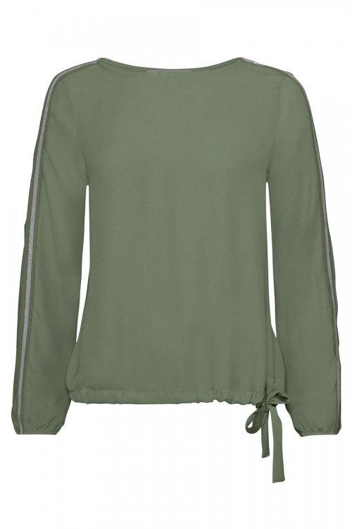 Blusa MONARI Verde Con Ribetes 804160