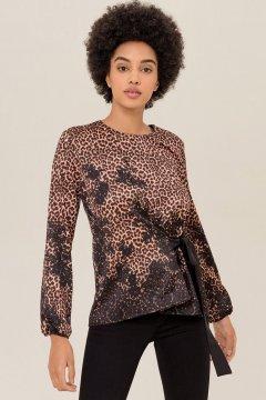 Blusa FRACOMINA Leopardo FR19FP061