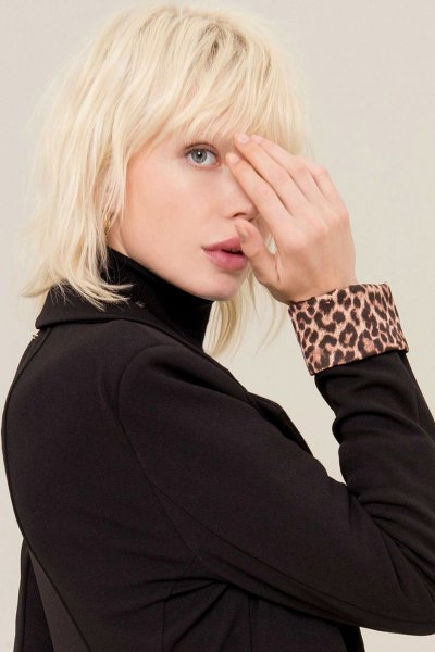 Blazer FRACOMINA Negra Leopardo FR19FP063