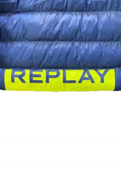 Cazadora REPLAY Azul Acolchada Texto M8004A 83408