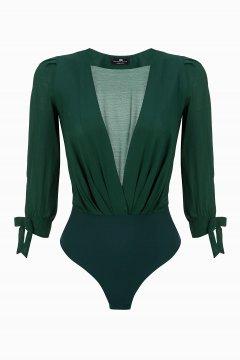 Camisa Body ELISABETTA FRANCHI Verde Botella CB06096E2