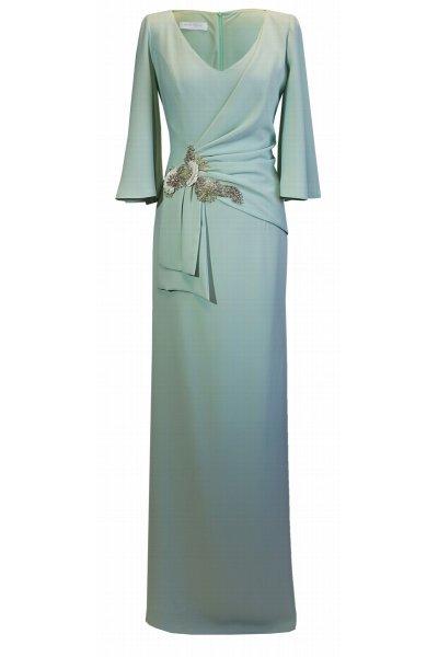 Vestido CARLA RUIZ Largo Aplique Joya 96669