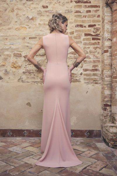 Vestido NURIBEL Largo Cuerpo Bordado Joya 1490200