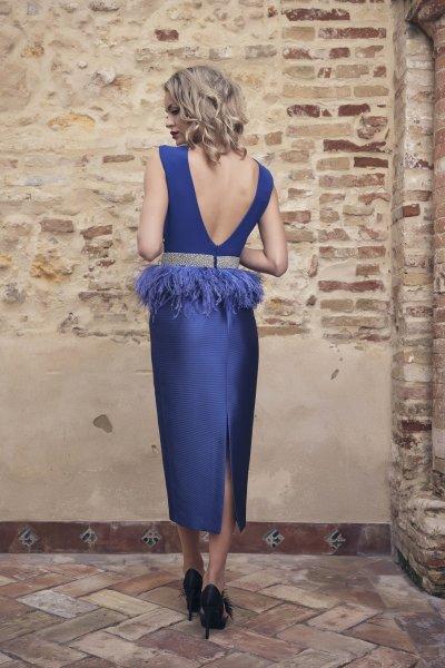 Vestido NURIBEL Combinado + Fajín 1495400