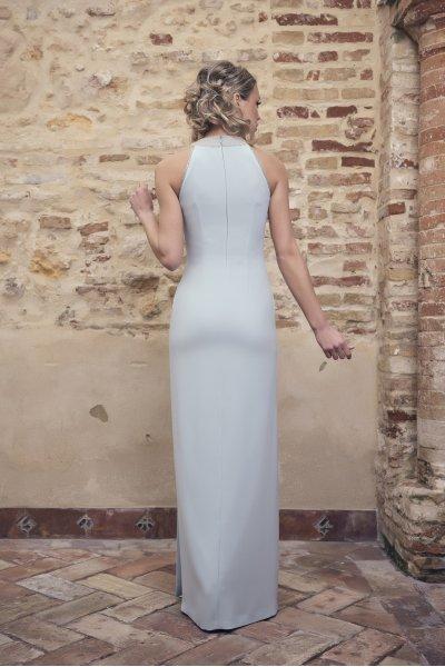 Vestido NURIBEL Largo Cuello Joya 1490400