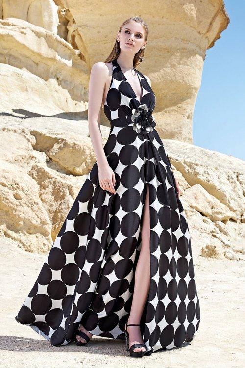 Vestido SONIA PEÑA Largo Lunares 1200127