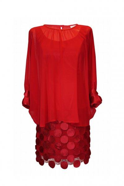 Vestido CARLA RUIZ Efecto Dos Piezas 96529