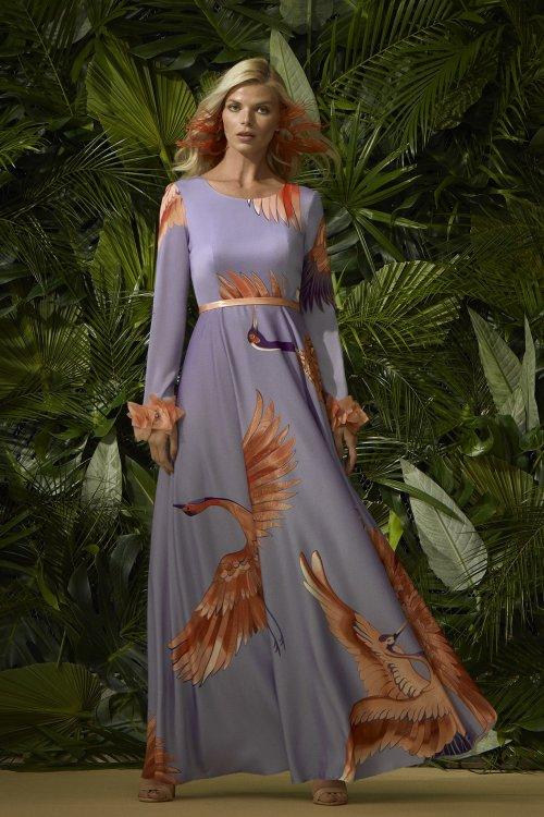 Vestido CARLA RUIZ Largo Estampado 96708