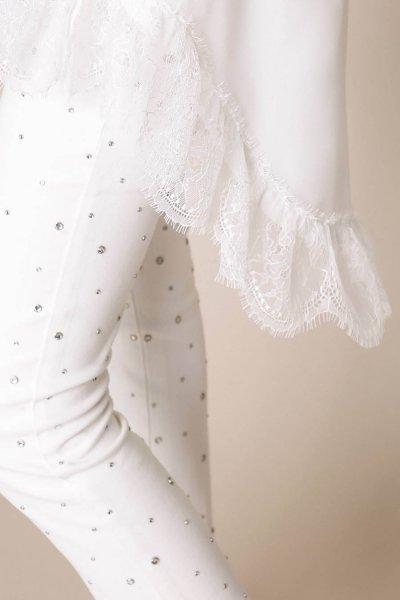 Camiseta TWINSET Maxi Con Encaje Chantilly 201MP2358