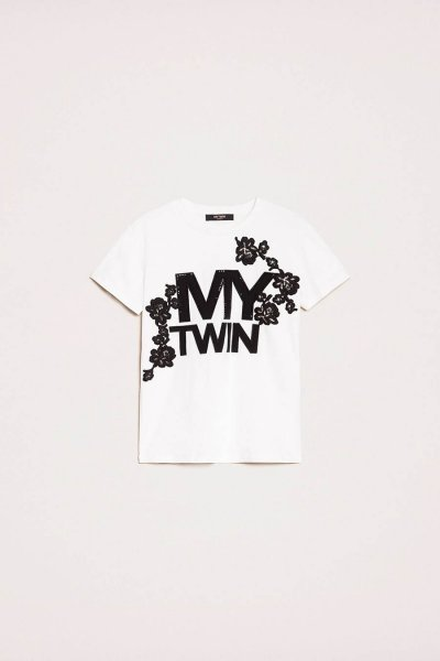 Camiseta TWINSET Con Logotipo Bordado 201MP235H