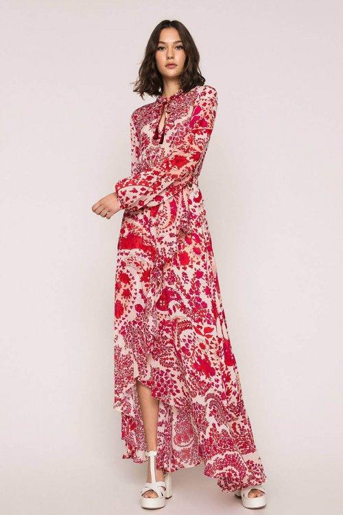 Falda TWINSET De Georgette Con Estampado De Cachemira 201TP2535