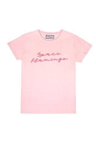 Camiseta SPACE FLAMINGO Neón SF_E0008