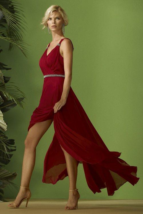 Vestido CARLA RUIZ Largo Buganvilla 96417