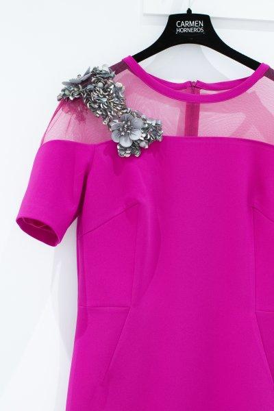 Vestido CARLA RUIZ Recto Aplicación Joya 96696