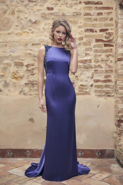 Vestido NURIBEL Largo Satén 1491500
