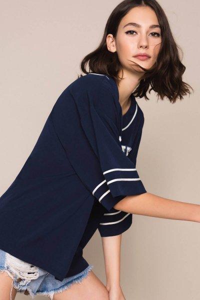 Blusa TWINSET De Crespón De China Con Bordados 201MP2082