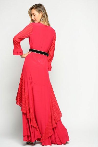 Vestido PINKO Largo Combinado Fresa 1G14RJY639