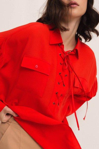 Camisa TWINSET De Mezcla De Seda Con Trenzado 201TP2508