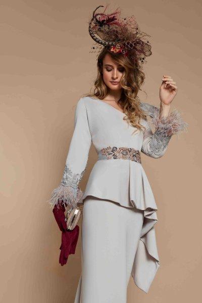 Vestido MATILDE CANO Corto Lazo Seda 7668
