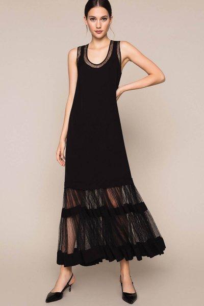 Vestido TWINSET Largo De Tul Plumetis 201TP2374