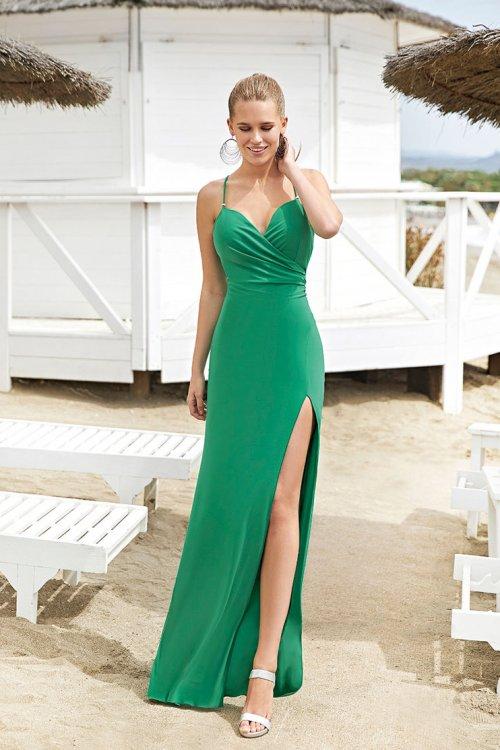 Vestido MISS SONIA PEÑA Largo Verde 1203010A