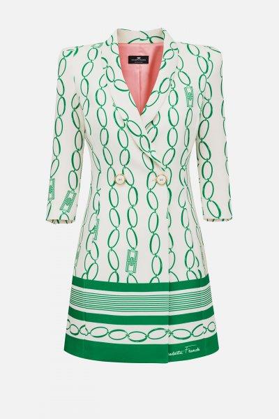Vestido ELISABETTA FRANCHI Estampado Cadenas AB19201E2