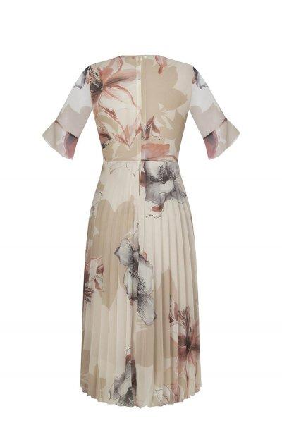 Vestido RINASCIMENTO Plisado Estampado Flores CFC0097380003