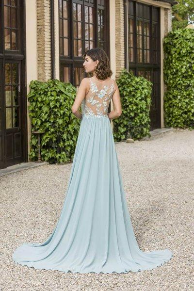 Vestido X&M Largo Verde Agua 50063