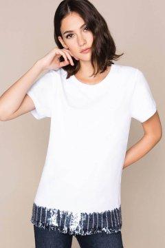 Camiseta TWINSET De Lentejuelas Y Strass 201MP2352