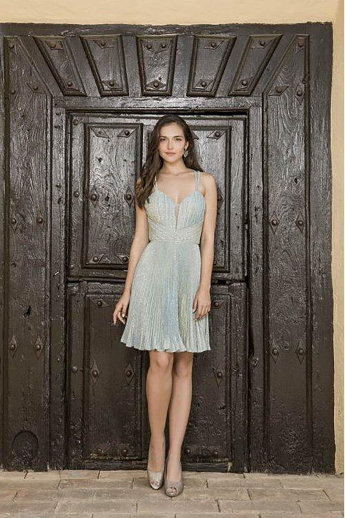 Vestido X&M Corto Plisado 50100
