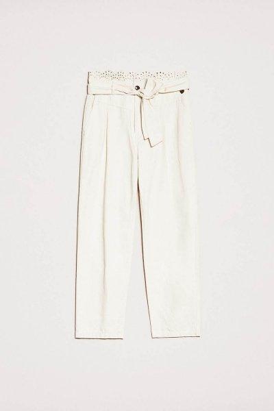 Pantalones TWINSET De Lona Con Bordado Inglés 201TP2015
