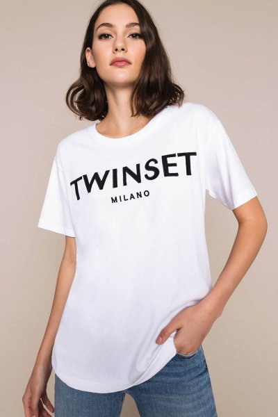 Camiseta TWINSET Con Logotipo Bordado 201TP2081