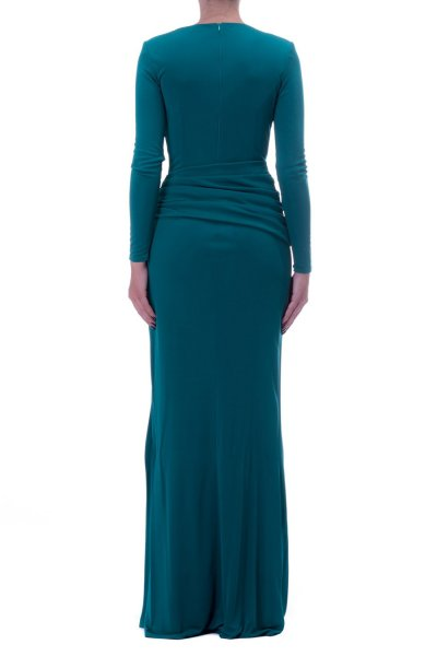 Vestido ELISABETTA FRANCHI Largo Aberturas Esmeralda AB12198E2