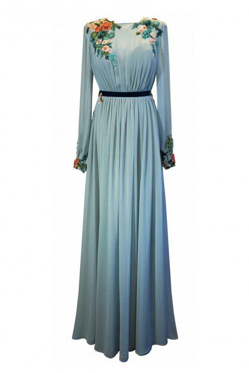 Vestido CARLA RUIZ Largo Romántico 96426