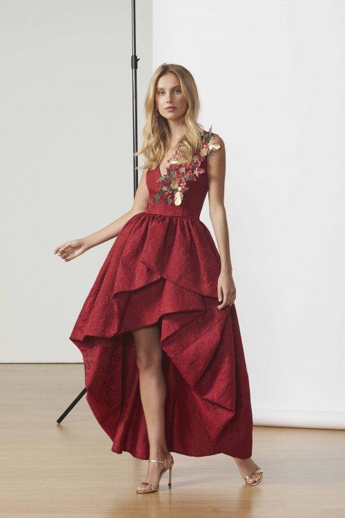 Vestido MATILDE CANO Brocado Abullonado 7548