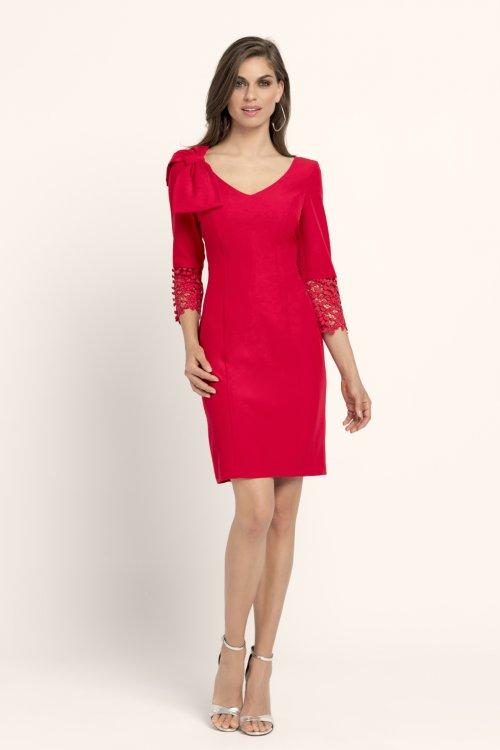 Vestido EVASSÉ Corto Combinado Lazo 61008079