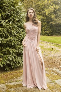 Vestido EVASSE Largo Rosa Palo 61020146