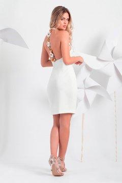 Vestido MONCHO HEREDIA Cuello Halter Detalle Floral 1002.1