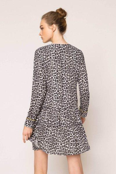 Vestido TWINSET De Georgette Animal Print 201MP2440