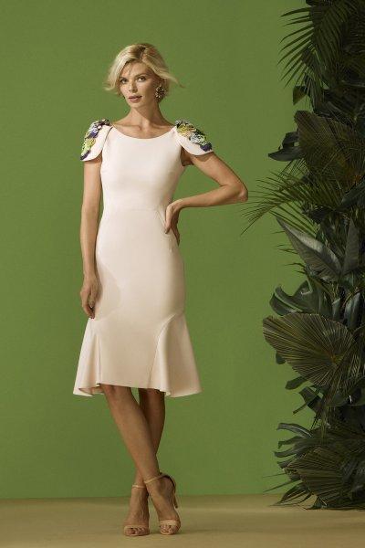 Vestido CARLA RUIZ Hombreras Joya 96703