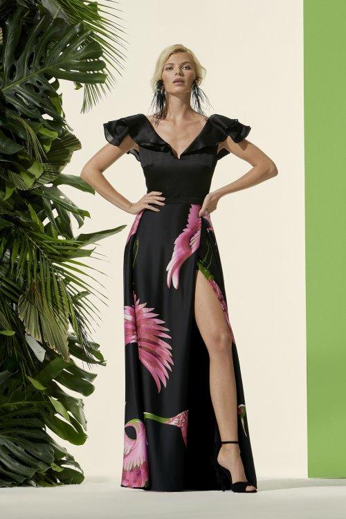 Vestido CARLA RUIZ Largo Falda Estampada 96710