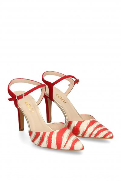 Zapato LODI Destalonado Estampado Rojo RULEN